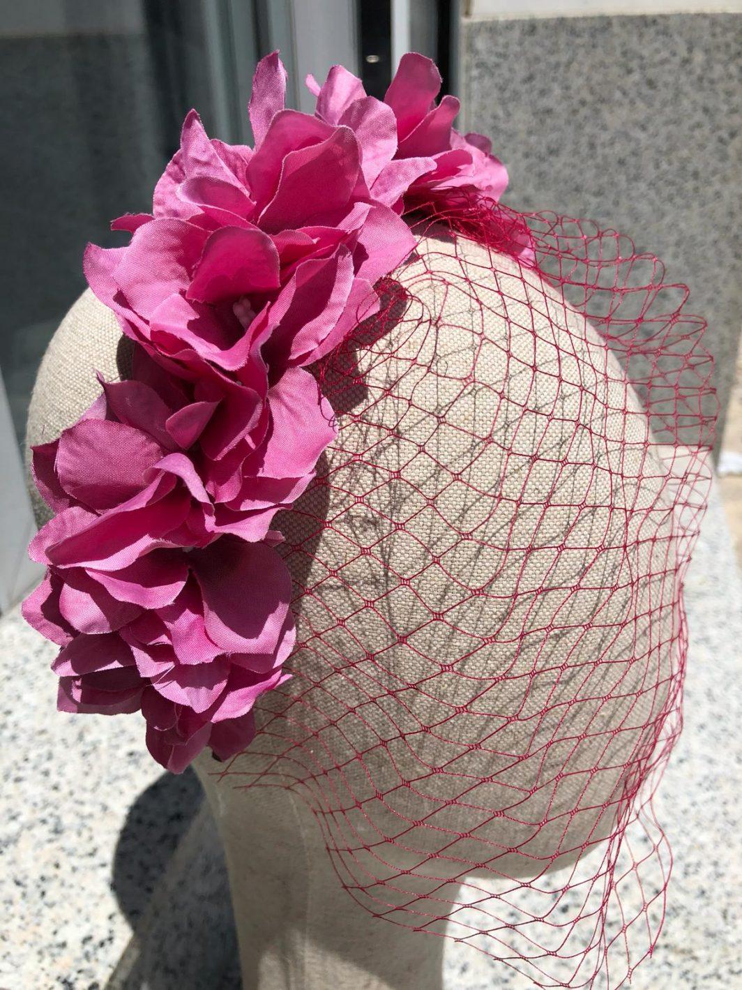 Diadema flores redecilla