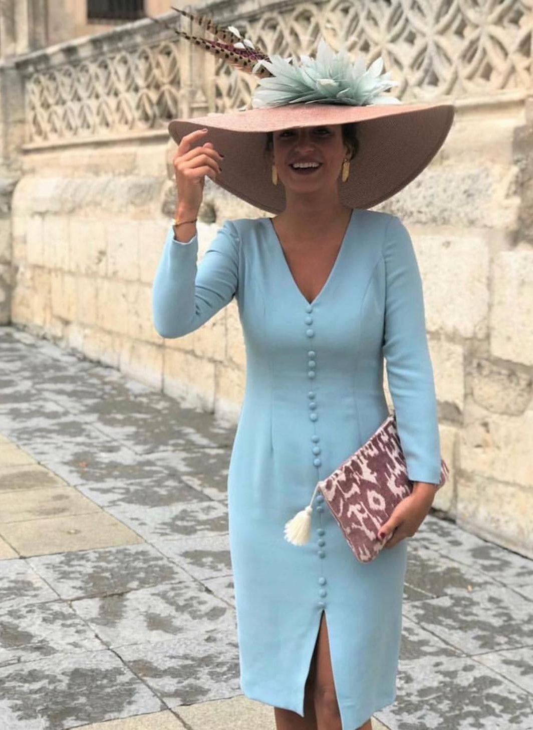 Vestido botones lady