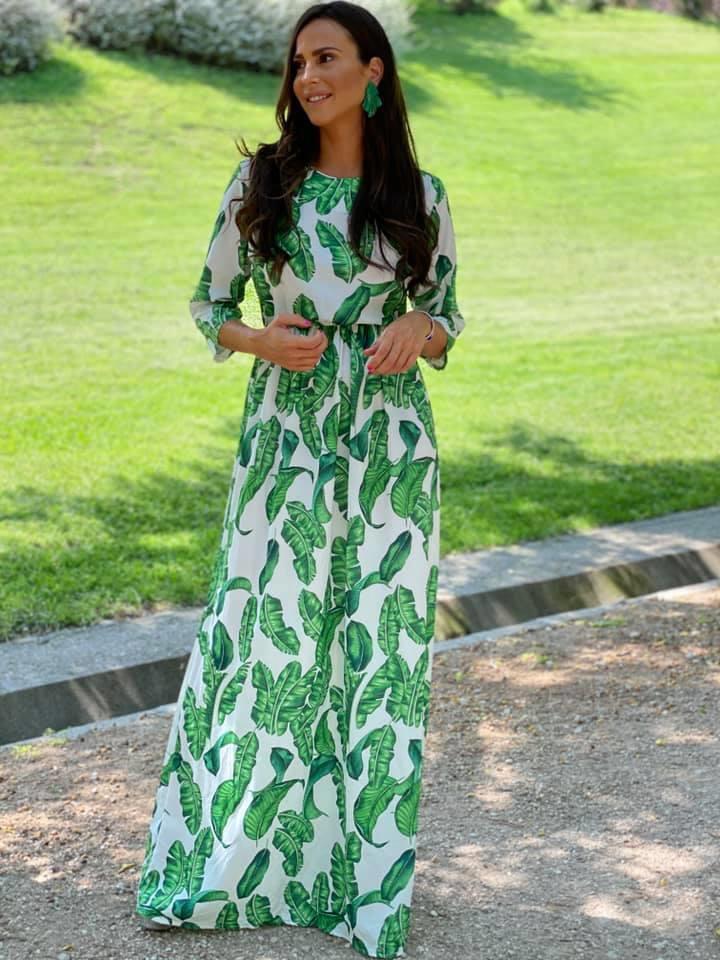 Vestido Hojas Verdes
